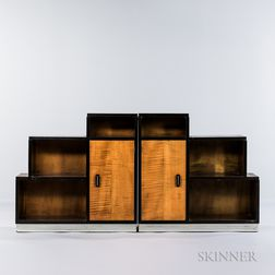Pair of Stepped Bookcases
