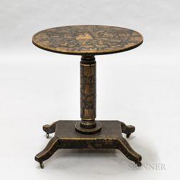 Black-painted Decoupage Tea Table