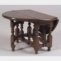 Miniature Oak William & Mary Gate-leg Table