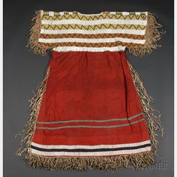 Northern Plains Beaded Cloth and Hide Woman's Dress