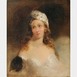 Attributed to Thomas Sully (American, 1783-1872)      Portrait of a Woman, Probably Fanny Kemble