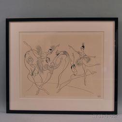 Albert Hirschfeld (American, 1903-2003)      American Ballet
