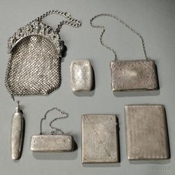 Six American Sterling Silver Personal Items