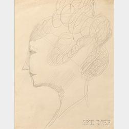 Elie Nadelman (American, 1885-1946)      Profile Head of a Woman