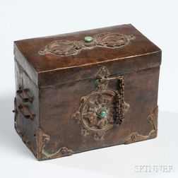 Copper Sheet Box with Hinged Cover