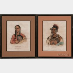 Two Framed McKenney & Hall Native American Lithographs