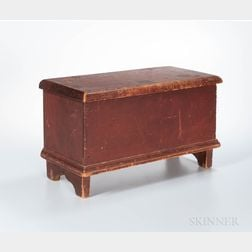 Miniature Red-painted Blanket Chest