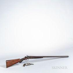English Double-barrel Shotgun and a Hopkins & Allen Revolver