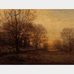 John Joseph Enneking (American, 1841-1916)      Autumn Sunset