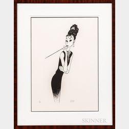 Al Hirschfeld (American, 1903-2003)      Breakfast at Tiffany's II