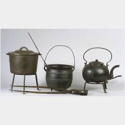 Group of Early Iron Hearth Items