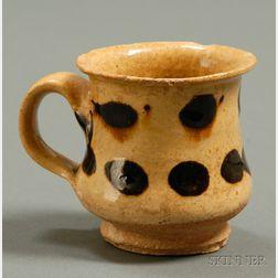 Small Slip-decorated Yellowware Mug
