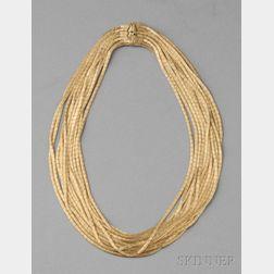 18kt Gold Multi-strand Necklace