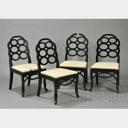 Four Frances Elkin (1888-1953) Loop Chairs