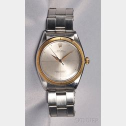 Stainless Steel and 14kt Gold Wristwatch, Rolex