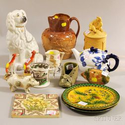 Fourteen Pieces of Assorted English Pottery and Porcelain