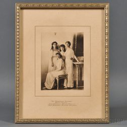 Photogravure of Tsar Nicholas II's Daughters