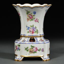 Porcelain Potpourri Vase and Stand