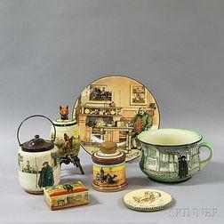 Seven Royal Doulton Ceramic Series Ware Items