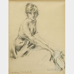 Louis Icart (French, 1888-1950)      Jeune Femme