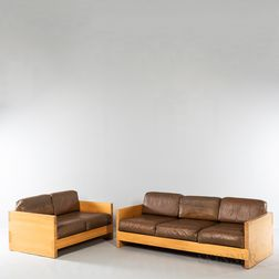 Design Research Maple Sofa and Loveseat