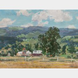 Jay Hall Connaway (American, 1893-1970)      Vermont Farm & Summer Mountains