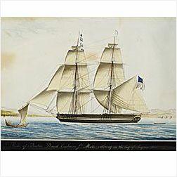Attributed to Raffael Corsini (Turkish, ac. Smyrna, 1830-1880)  Hebe of Boston ... entering in the Bay of Smyrna 1831.