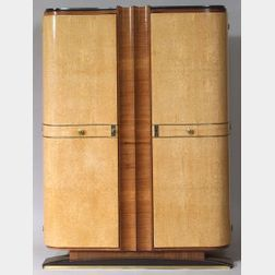 Art Deco Sycamore and Fruitwood Armoire