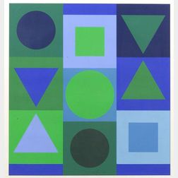 Victor Vasarely (French/Hungarian, 1908-1997)  Affiche Avant la Lettre