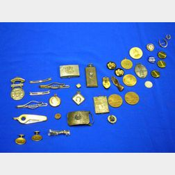 Group of Men's Fraternal and Miscellaneous Items