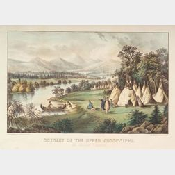 Currier & Ives, publishers (American, 1857-1907)    Scenery of the Upper Mississippi:  An Indian Village.