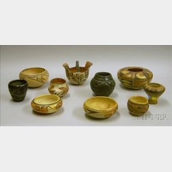 Ten Pieces of Native American Southwest Pottery