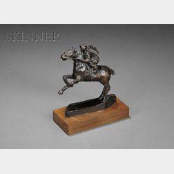 Allan Albert Davidson (American, 1908-1988)      Jockey on Horseback
