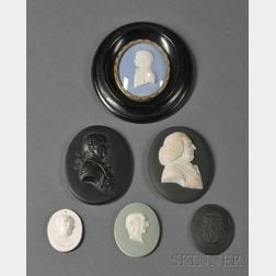 Six Wedgwood Oval Portrait Medallions
