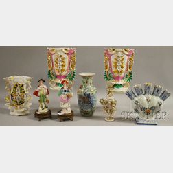 Eight Assorted Decorative Porcelain Table Items