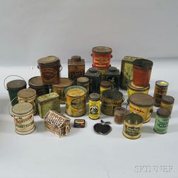 Group of Lithographed Tin Advertising Containers