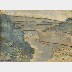 Diego Rivera (Mexican, 1886-1957)      River Landscape