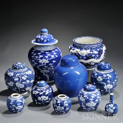 Ten Pieces of Blue and White Porcelain