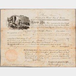 Monroe, James (1758-1831) Document Signed, Washington, D.C., 5 March 1821.