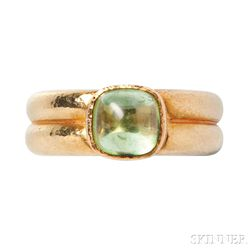 18kt Gold and Peridot Ring, Elizabeth Locke