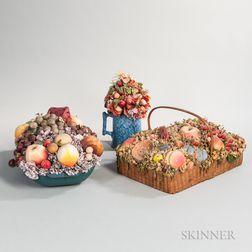 Three Doris Stauble Flower Arrangements