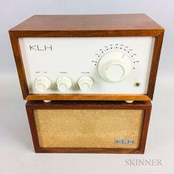 KLH Model Eight FM Radio with Bookshelf Speaker