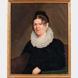 Attributed to John S. Blunt (Massachusetts/New Hampshire, 1798-1835), Portrait of Sarah H. March, Portsmouth, New Hampshire, c. 1830, U
