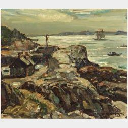 William Lester Stevens (American, 1888-1969)  Lanesville Harbor, Cape Ann