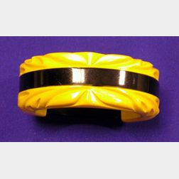 Bakelite Carved Bangle