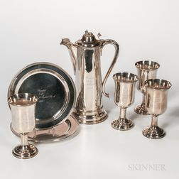 Wood & Hughes Coin Silver Communion Set