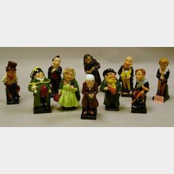 Ten Small Royal Doulton Porcelain Dickens Figures
