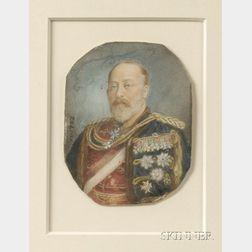 Portrait Miniature on Ivory of Edward VII