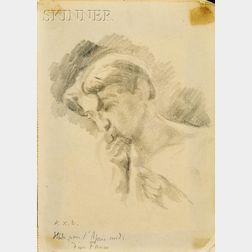 Ker-Xavier Roussel (French, 1867-1944)      Portrait of Vaslav Nijinsky