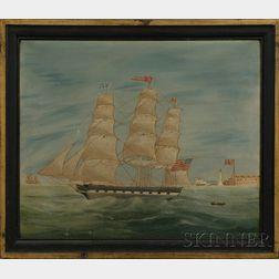Anglo-American School, 19th Century      Portrait of the Ship RAPAHANNOCK.